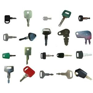 20 Keys Heavy Equipment Construction Equipment Ignition Key Set High Quality