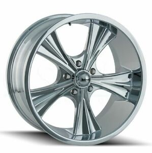 20x10 Ridler 651 5x5 5x127 0 Chrome Wheels Rims Set 4