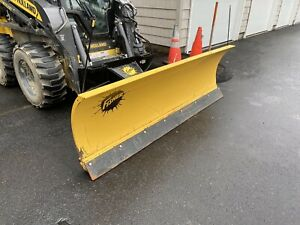 Fisher Skid Steer 4 Way Trip Edge Snow Plow Complete Universal Mount