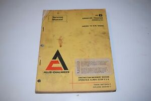 Allis chalmers Hd6 Crawler Tractor Complete Service Manual