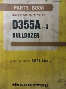 Komatsu D355a 3 Bulldozer Crawler Sn 4001 up Tractor Parts Manual Sa6d155 Engine