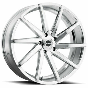 20x10 Strada S41 Sega 5x114 3 40 Chrome Wheels Rims Set 4