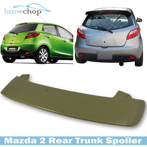 2008 2014 Painted Color For Mazda 2 3rd 5dr Hatchback K style Roof Visor Spoiler
