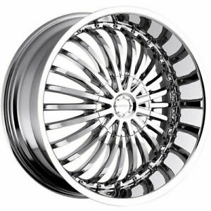 20x8 Strada S16 Spina 5x112 5x115 40 Chrome Wheels Rims Set 4