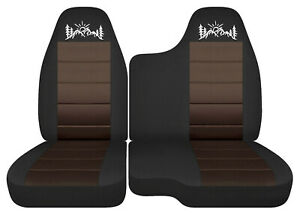 Car Seat Covers Black Brown Mountain Fits 98 03 Ford Ranger 60 40 Bench Seat