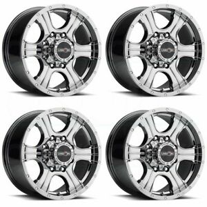 20x9 Vision 396 Assassin 8x6 5 8x165 1 12 Phantom Chrome Wheels Rims Set 4