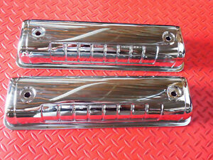 1954 1964 Ford Chrome Steel 292 312 Y Block Valve Covers