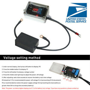 Car Double Battery Isolator Protector Auto Controller Max 300a 12v Negative Pole