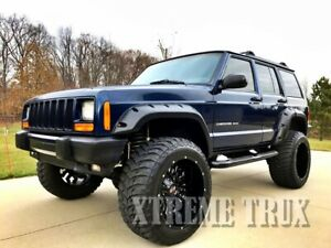 Paintable Black 84 01 Jeep Cherokee Xj Pocket Rivet Fender Flares 4dr Set 4