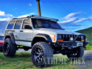 Textured Black 84 01 Jeep Cherokee Xj Pocket Rivet Fender Flares 4dr Set