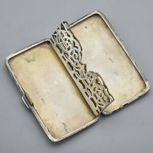 Antique English Sterling Silver Calling Card Holder Case Box 73 0 Grams