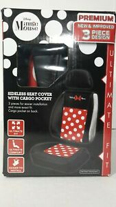 Minnie Mouse Car Seat Cover Sideless Seat Cover With Cargo Pocket 009