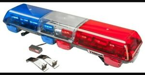 Wolo 7715 br Infinity 3 Bolt on Red Blue Full Sz Emergency Led Light Bar