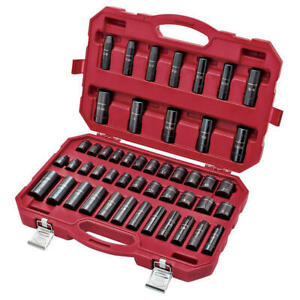 Craftsman 48 Piece 1 2 Inch Drive Impact Socket Set W Carrying Case