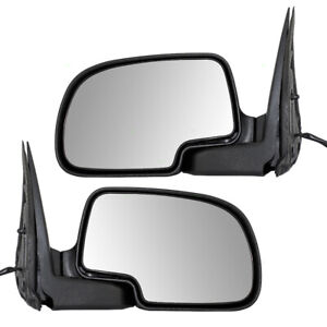 Pair Set Performance Power Side View Mirrors For 99 02 Silverado Sierra Pickup