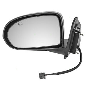 Drivers Textured Power Side View Mirror Heated For 07 17 Jeep Compass 5115047am
