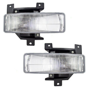 Pair Set Fog Lights Lamp Housing Assembly For 97 98 Ford Pickup Truck Expedition