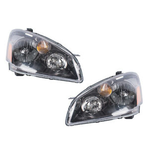 New Pair Set Hid Headlight Headlamp Housing Assembly For 05 06 Nissan Altima