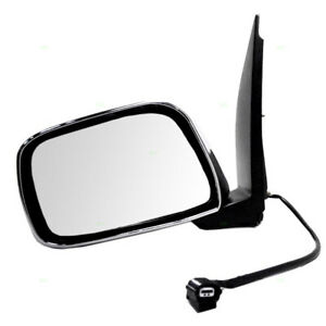 New Drivers Power Side View Mirror Chrome For 09 13 Suzuki Equator Pickup Truck