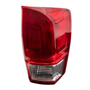 Passengers Tail Light W Red And Clear Lens Assembly For 2016 2019 Toyota Tacoma