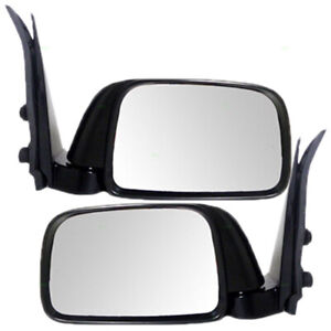 New Pair Set Manual Side Mirror Glass Housing For 95 99 Toyota Tacoma Pickup
