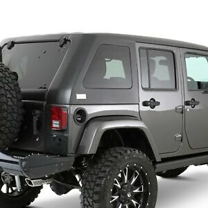 For Jeep Wrangler Jk 18 Guardian Fastback Double Sunroof Black Textured Hard Top