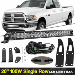 20 Inch Single Row Bumper Mount Led Light Bar For 19 up Dodge Ram 2500 3500