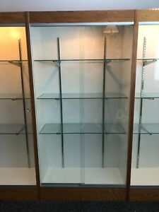 Glass Display Cabinet With Sliding Doors And Lights Toy Cabinet Sports Cabinet