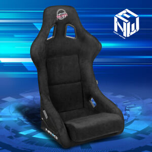 Nrg Innovations Universal Alcantara Bucket Racing Seat Large Frp 302bk Prisma