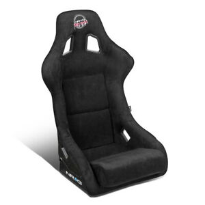 Nrg Innovations Frp 302bk prisma Large Alcantara Racing Bucket Seat side Mounts