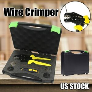 Ratcheting Terminal Crimper Tool Set For Insulated Non insulated Wire electrode