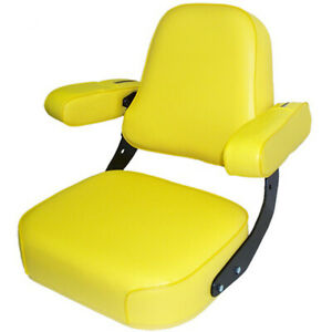 Custom Yellow Seat Assembly Fits John Deere Tractors Combines