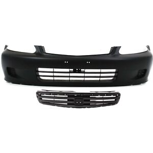 Bumper Cover Kit For 99 2000 Honda Civic Front Bumper Cover Grille Assembly 2pc