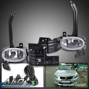 Clear Lens Fog Light Bumper Lamps W switch harness For 08 10 Honda Accord Coupe