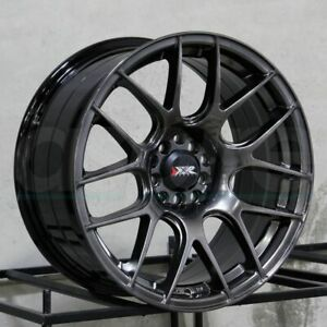 17x7 Xxr 530 4x100 4x114 3 35 Chromium Black Wheels Rims Set 4