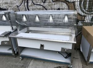 60 5 Ft Electric Steam Table Stainless Steel 208 Volts W Sneeze Guard Nsf