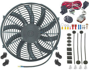 15 Inch Electric Radiator Engine Fan Adjustable Thermostat Control Switch Kit