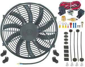15 Inch Electric Cooling Radiator Fan 3 8 Npt Ground ing Thermostat Switch Kit