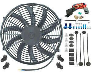 15 Inch Electric Fan Radiator Engine Cooling 3 8 Thermostat Control Switch Kit