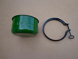 Air Cleaner Oil Cup Bowl And Clamp For John Deere M Mt Mc 40 420 430 320 330
