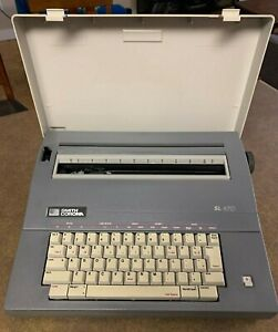 Smith Corona Sl470 Electronic Portable Typewriter W Carrying Cover Vintage Ink