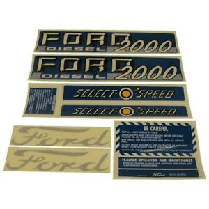 Decal Set For Ford Tractor 2000 Diesel Select o speed 1115 1535