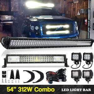 Curved Led Light Bar Driving 54 Inch 22 Lamp Pods For Dodge Ram 1500 2500 3500