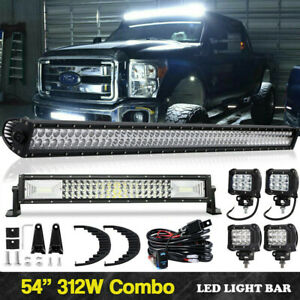 For Chevy Suburban Tahoe gmc Yukon Xl 54 Curved Led Light Bar 22 Pods Driving