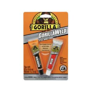 Gorilla Gorillaweld Steel Bond Epoxy Two Part Adhesive Resin Hardener Dark Grey