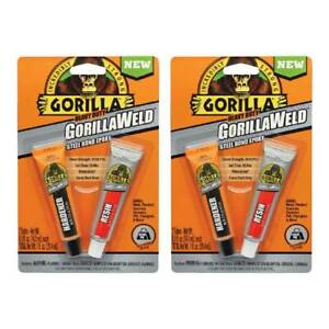 Gorillaweld Steel Bond Epoxy Two Part Adhesive Resin Hardener Dark Grey 2 pack