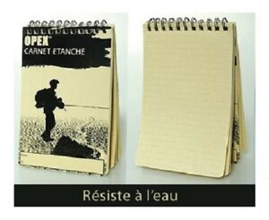 Notebook Waterproof Opex Gm Book 50 Pages 100 5 29 32in Army Police Para Ls