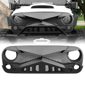 Front Hawke Bumper Grille Guard For 07 18 Jeep Wrangler Jk Jku Matte Black Abs
