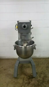 Univex M30 30 Qt Dough Mixer Hook Bowl 115 Volts 1 Phase On Casters Tested