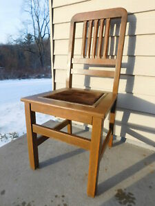 Buy 1 4 Antique C1910 Mission Arts Crafts Solid Quartersawn Oak Industrial Chair